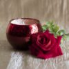 Red Sparkling Vase Candle (British Tea Rose & Cocoa Butter)